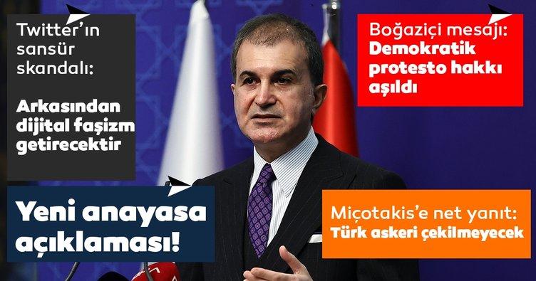 Son dakika haberi: AK Parti Sözcüsü Ömer Çelik'ten Twitter'ın sansür skandalına sert tepki