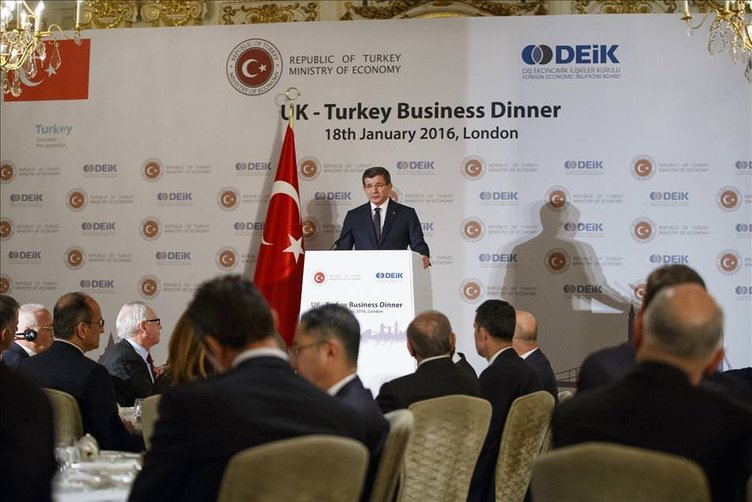 Başbakan Ahmet Davutoğlu'nun Londra ziyareti