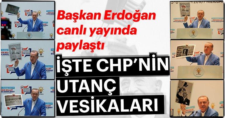 İşte CHP'nin utanç vesikaları