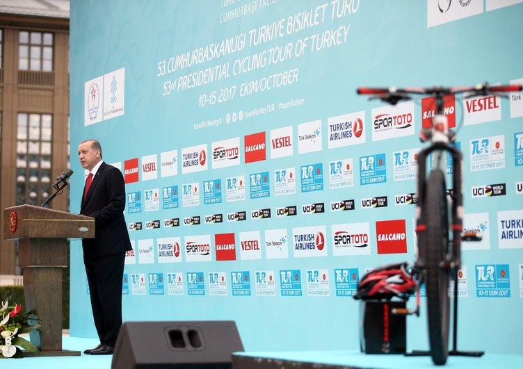Cumhurbaşkanı Erdoğan, Cumhurbaşkanlığı Bisiklet Turnuvası tanıtım toplantısına katıldı
