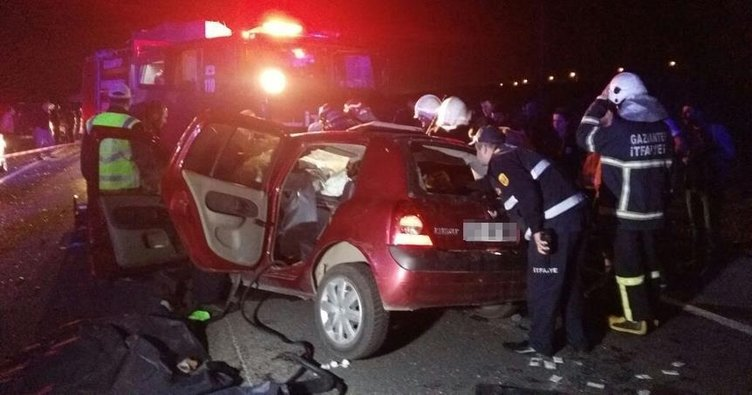 Gaziantep'te zincirleme kaza: 5 ölü, 5 yaralı!