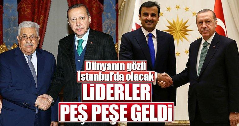 Liderler peş peşe İstanbul'a indi