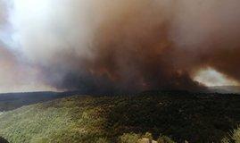 Turizm bölgesinde yangın: Dumanlar yükseliyor