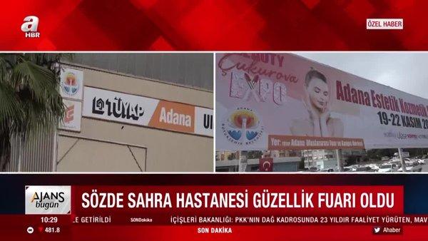 Son dakika:Adana'da CHP'nin 'Sahra hastanesi kurduk' dediği yerde güzellik fuarı açıldı | Video