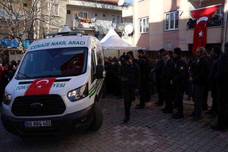 Tel Abyad şehidi teğmen Sinan Bilir, Tokat'ta son yolculuğa uğurlandı