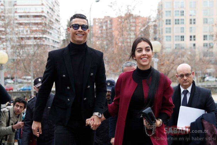 Cristiano Ronaldo'nun sevgilisi Georgina Rodriguez kırmızı halıda büyüledi!