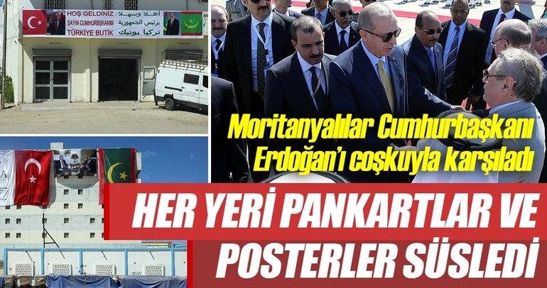 Moritanyalılar Cumhurbaşkanı Erdoğan'ı coşkuyla karşıladı