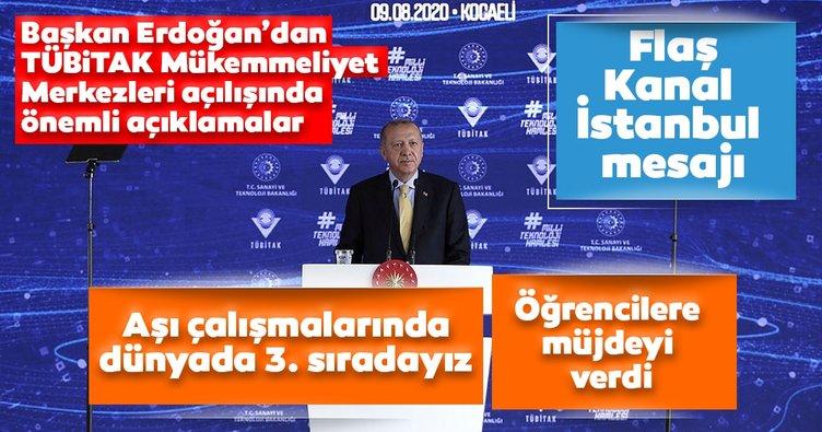 Son dakika: Başkan Erdoğan'dan yeni TÜBİTAK Merkezi açılış töreninde önemli açıklamalar