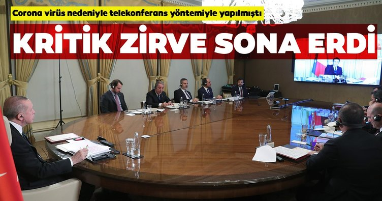 Son dakika: Cumhurbaşkanı Erdoğan'ın, Almanya, İngiltere ve Fransa liderleriyle yaptığı telekonferans sona erdi
