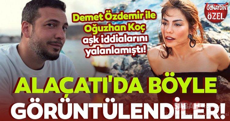 Demet Özdemir ile Oğuzhan Koç aşk iddialarını yalanlamıştı! Alaçatı'da böyle görüntülendiler!