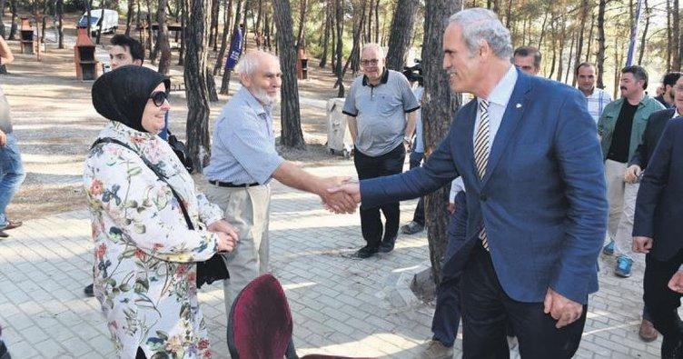 40 dönümlük mesire alanı halka açıldı