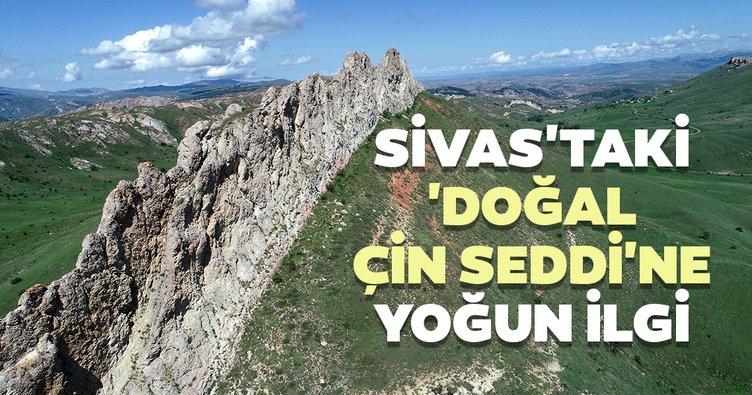 Sivas'taki 'doğal Çin Seddi'nde doğa yürüyüşü