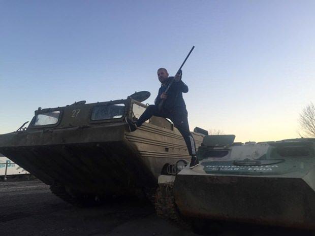 Türk sınırında devriye geziyor