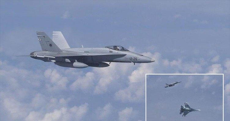 Rusya Savunma Bakanı Şoygu'nun uçağına yaklaşmaya çalışan NATO uçağı uzaklaştırıldı