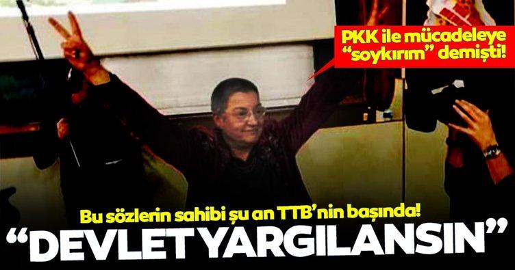 Fincancı terör örgütü ile mücadele eden devletin yargılanmasını istemiş!