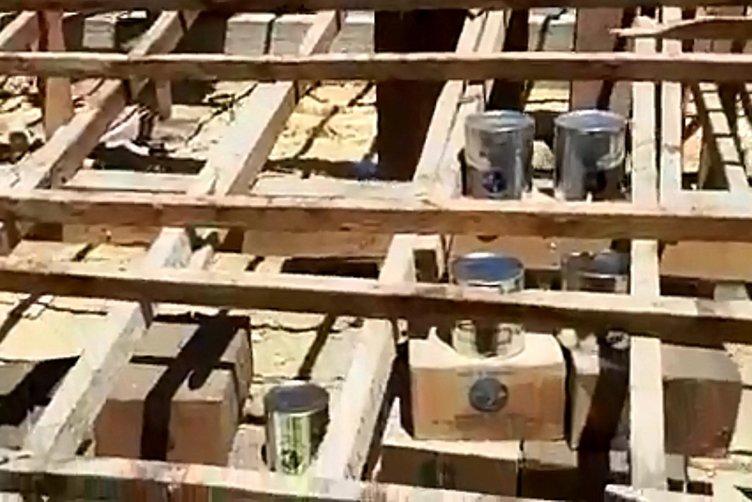 Okuldaki tadilat çalışmasında çatıda ABD margarinleri bulundu