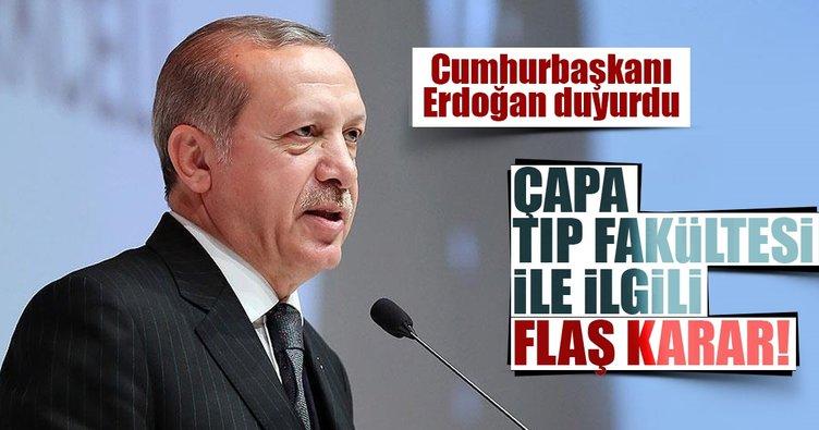 Cumhurbaşkanı Erdoğan açıkladı: Çapa Tıp Fakültesi taşınıyor