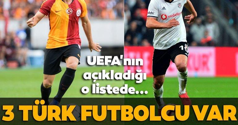 UEFA'nın gelecek vadeden yıldızlar listesinde 3 Türk futbolcu