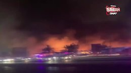 Birleşik Arap Emirlikleri'nde çarşıda korkutan yangın | Video