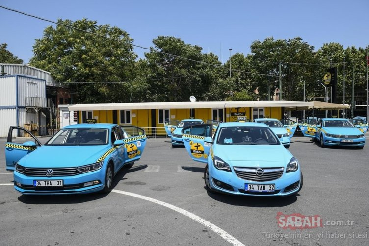 İstanbul'un rengarenk taksileri