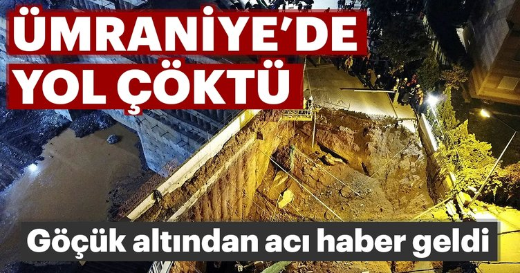 Ümraniye'de metro inşaatının yakınında göçük