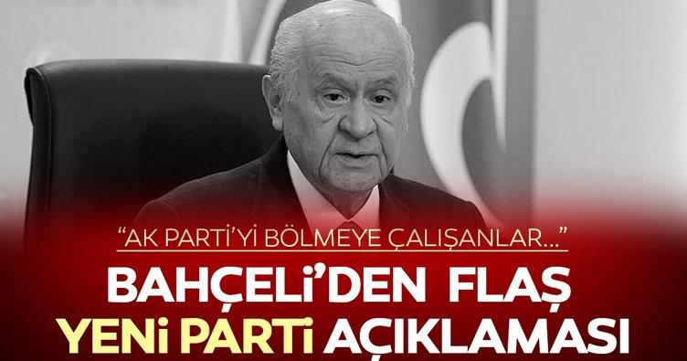Bahçeli'den yeni parti iddialarına ilişkin açıklama
