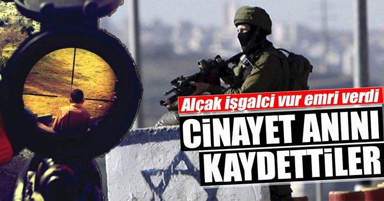 İşgalci İsrail askerleri Filistinli genci vurdukları anı kameraya almış