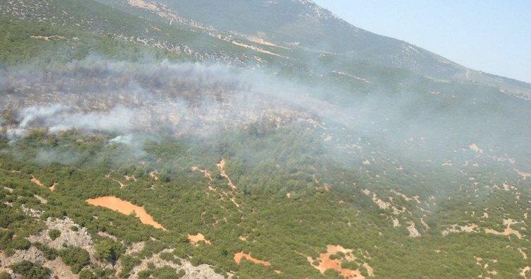 Akhisar'da makilik yangını