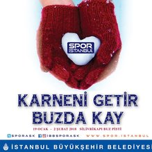 İstanbul Büyükşehir Belediyesi'nden 'Karneni getir, buzda kay' etkinliği
