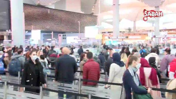 İstanbul Havalimanı'nda tehlikeli yoğunluk | Video