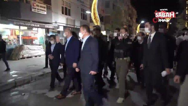 Bakan Soylu, gece yarısı Hakkari caddelerinde dolaşarak vatandaşlarla sohbet etti | Video