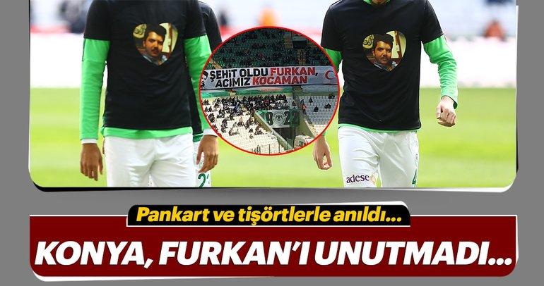 Konyaspor taraftarı Polonya'da öldürülen Furkan Kocaman'ı unutmadı