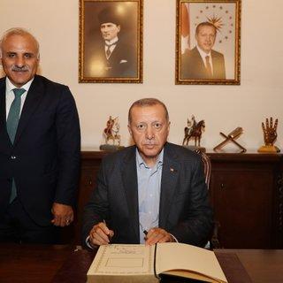 Başkan Erdoğan'dan belediyeye ziyaret
