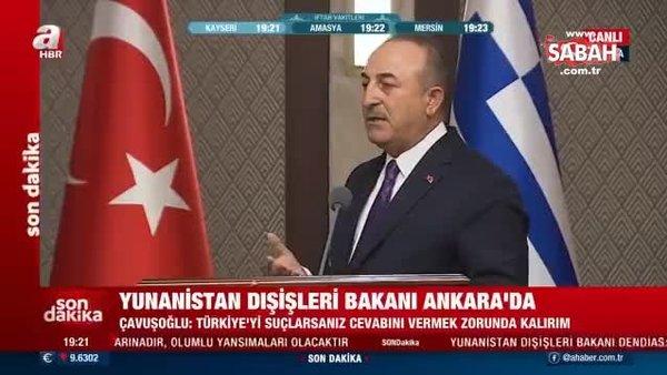 Dışişleri Bakanı Mevlüt Çavuşoğlu'ndan, canlı yayında Dendias'a tokat gibi cevap
