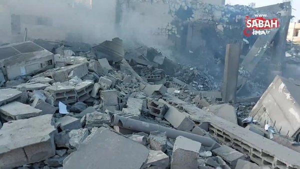 Son Dakika Haberi: Saniyeler içinde enkaza döndü! İşte İsrail vandallığı... | Video