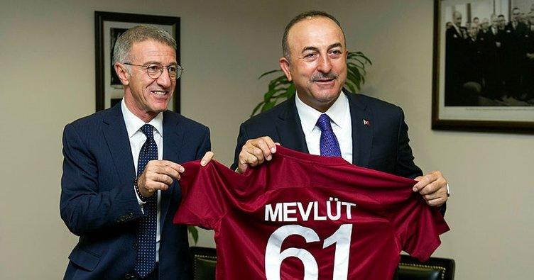 Trabzonspor Başkanı Ağaoğlu'ndan Bakan Mevlüt Çavuşoğlu'na ziyaret