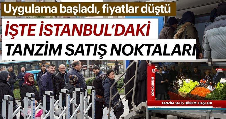 Son Dakika | Tanzim satış başladı, fiyatlar düştü! İşte İstanbul'daki tanzim satış noktaları