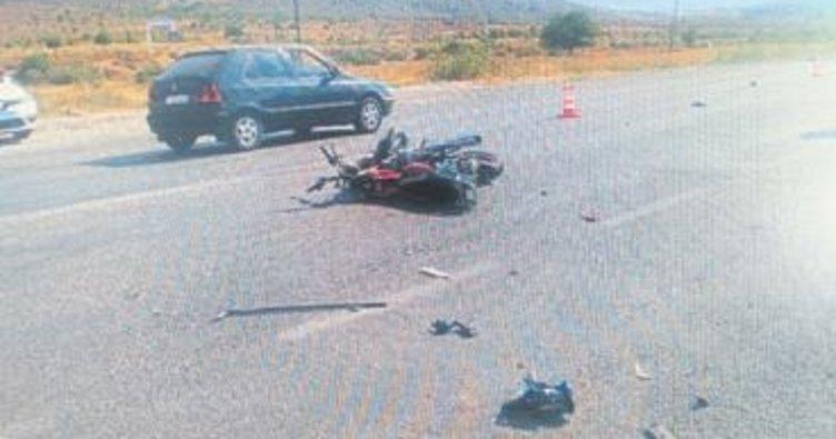 Foça'da trafik kazası: 2 yaralı