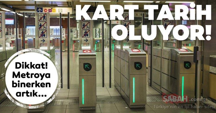 Metro istasyonlarında yeni dönem! Kart tarih oluyor! Artık metroya binerken...