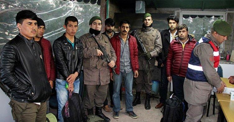 Burdur'da 7 kaçak yakalandı