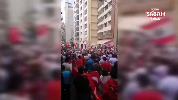 Beyrut halkından tüyleri diken diken eden slogan!