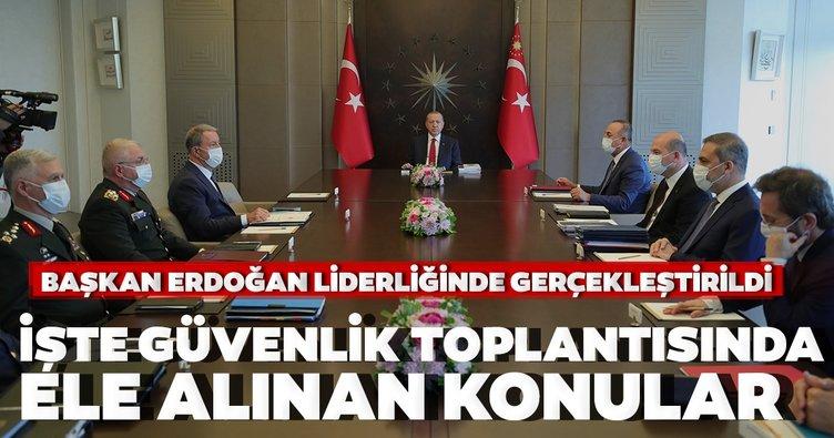 Son dakika: Başkan Recep Tayyip Erdoğan başkanlığında Güvenlik Toplantısı gerçekleştirildi
