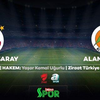 Ziraat Türkiye Kupası'nda Galatasaray'ın rakibi Alanyaspor