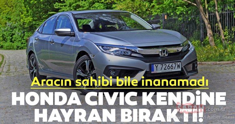 Honda Civic kendine hayran bıraktı! Civic'in sahibi aracını görünce ne diyeceğini bilemedi