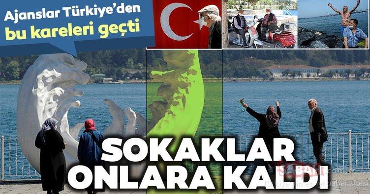 Ajanslar bugün Türkiye'den dünyaya geçtikleri fotoğraflarda ilginç karelere yer verdi