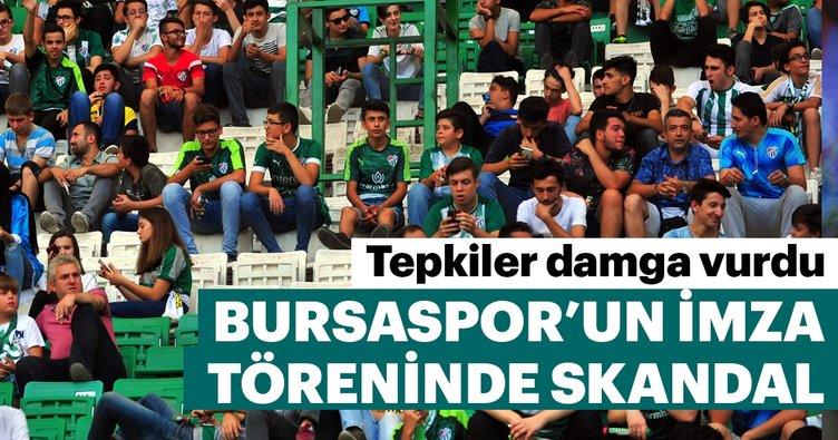 Bursaspor'un imza töreninde skandal