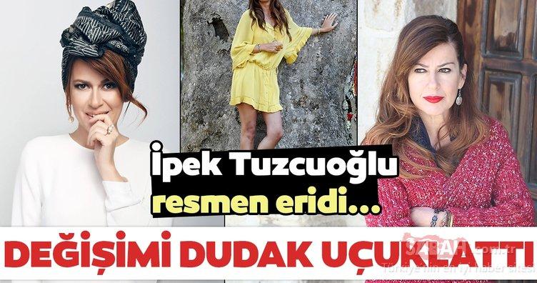 İpek Tuzcuoğlu resmen eridi! İşte İpek Tuzcuoğlu'nun şaşırtan hali...