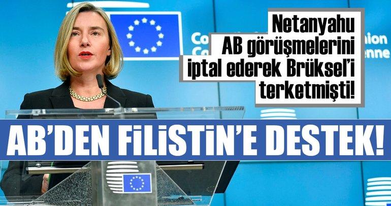 AB'den Filistin'e destek!