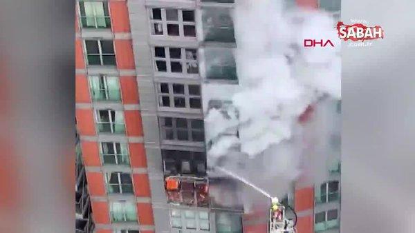 Londra'da 43 katlı apartmanda yangın