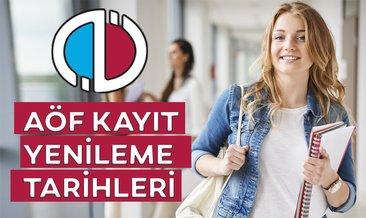 AÖF Kayıt yenileme 2019 ne zaman? Anadolu Üniversitesi kayıt tarihleri açıklandı!